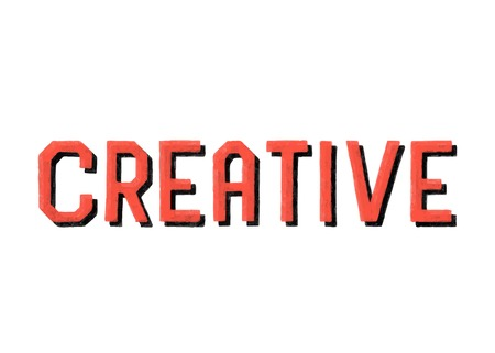 Handwritten style of Creative typography