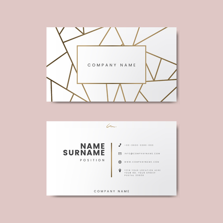 Creative minimal and modern business card design featuring geometric shapes
