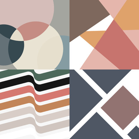 Nature tones Swiss graphic design patterns collection