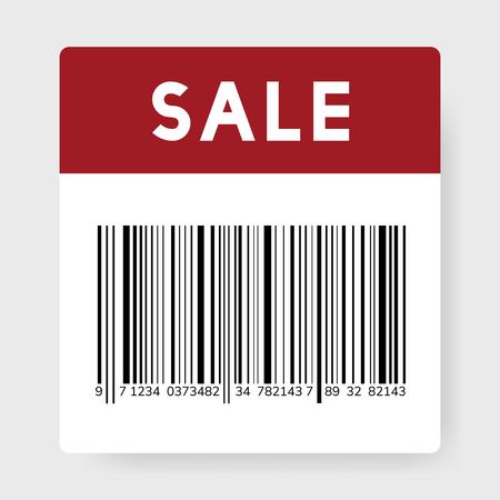 Vecteur d'icône de code-barres noir de vente