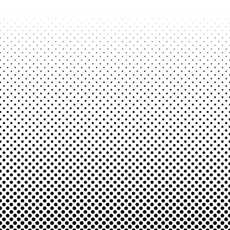 Black and white halftone background vector Standard-Bild - 126453097