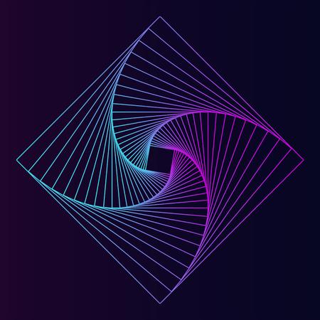 Abstract square geometric element vector Ilustração