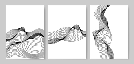 Data visualization dynamic wave pattern vector Çizim