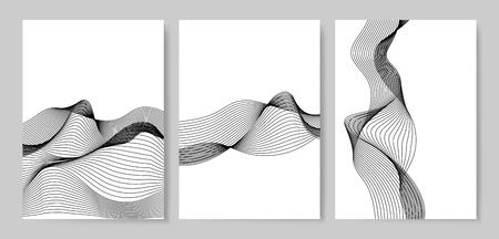 Vector de patrón de onda dinámica de visualización de datos