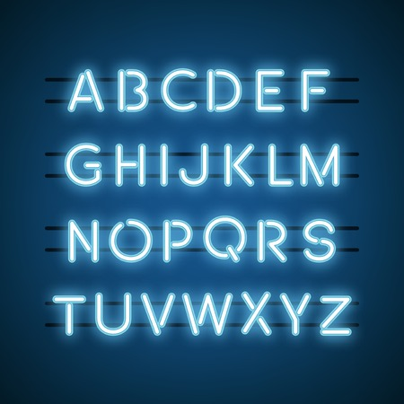 The English Alphabet capital letters vector