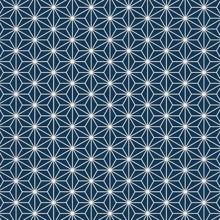 Motif japonais sans couture avec vecteur de motif de feuille de chanvre Vecteurs