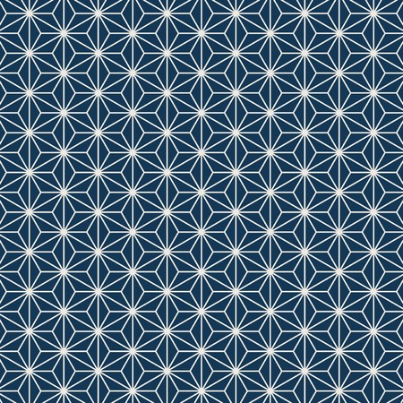 Seamless Japanese pattern with hemp leaf motif vector Banque d'images - 126248832