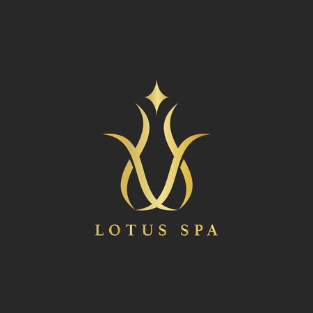 Loto spa design logo vettoriale Logo