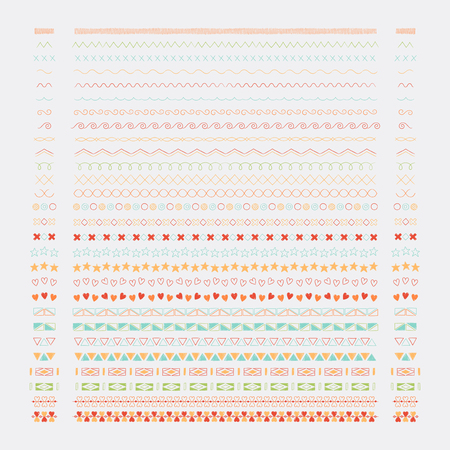 Divider line design elements vector collection Vettoriali