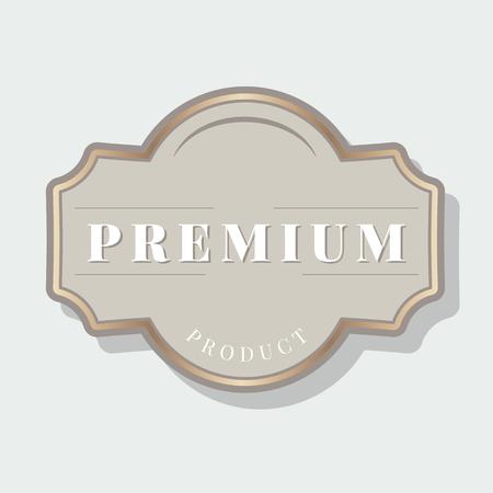 Vintage premium product badge vector Banque d'images - 115266997