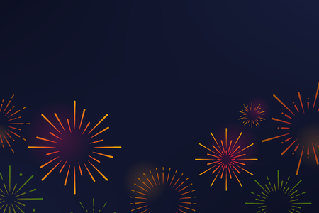 Firework explosions background design vector Ilustrace