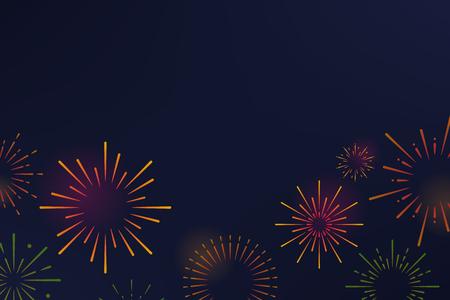 Vettore di disegno di sfondo di esplosioni di fuochi d'artificio