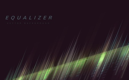 Equalizer abstract background design vector Ilustrace