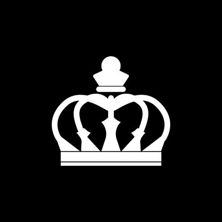 White single royal crown vector Illustration