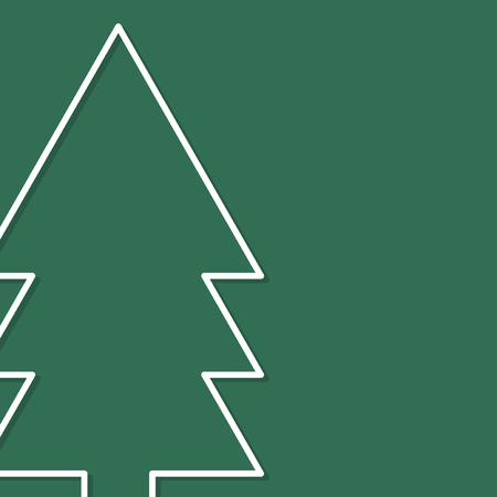 Pine tree icon on green background