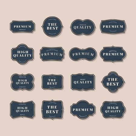 Navy vintage premium badge vectors Banque d'images - 115266774