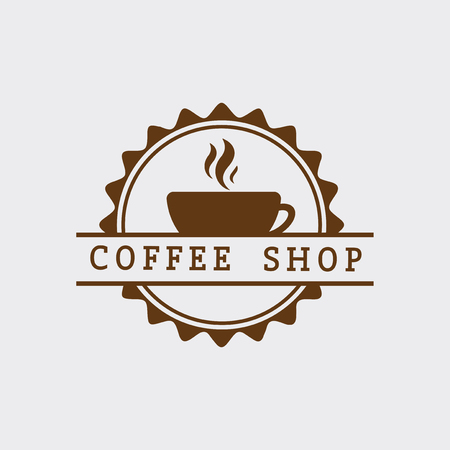 Retro coffee shop logo vector Stock Vector - 115266780
