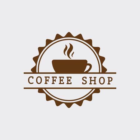 Retro coffee shop logo vector