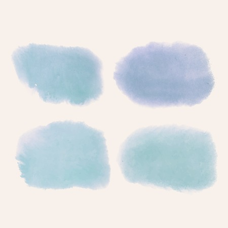 Blue watercolor style banner vector 向量圖像