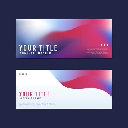 Bunte und abstrakte Banner-Designvorlagen Vektorgrafik