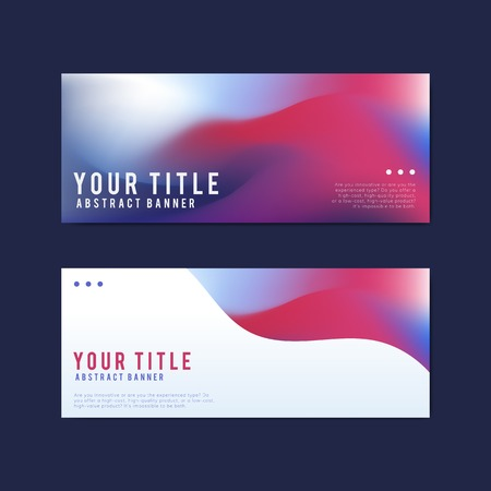 Colorful and abstract banner design templates 写真素材 - 126248925