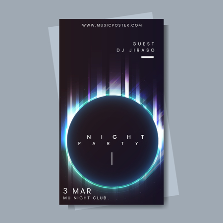 Night party music poster vector Ilustrace