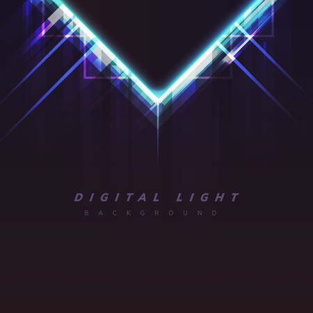 Abstract light poster design vector