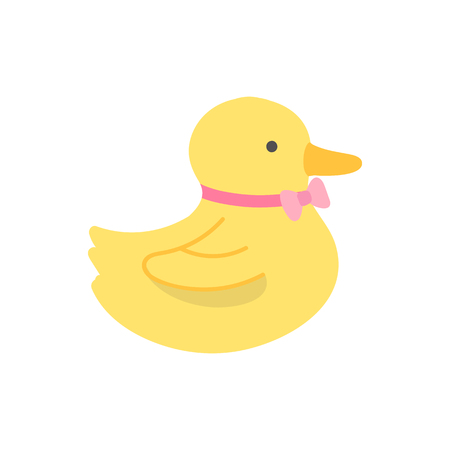 Yellow baby duck toy vector 向量圖像