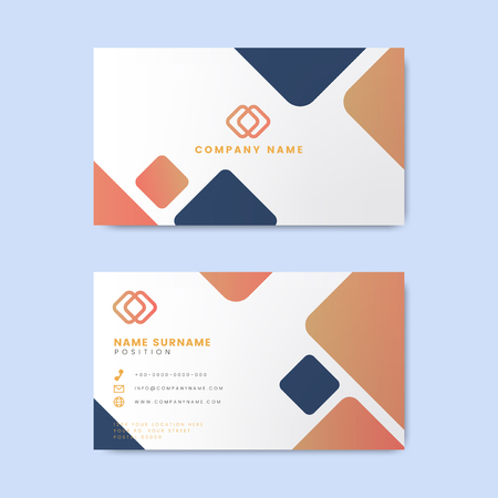 Minimal modern business card design featuring geometric elements Illusztráció