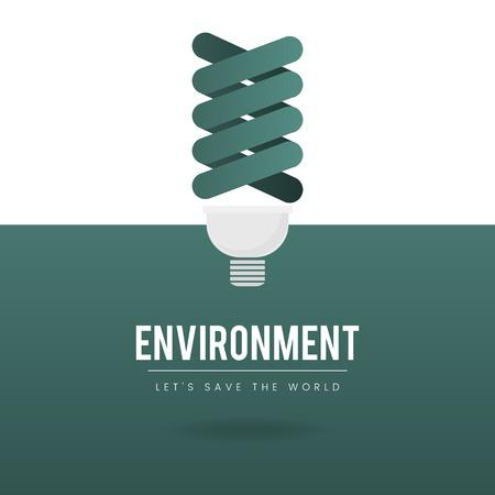 Wektor ochrony środowiska żarówki Ilustracje wektorowe