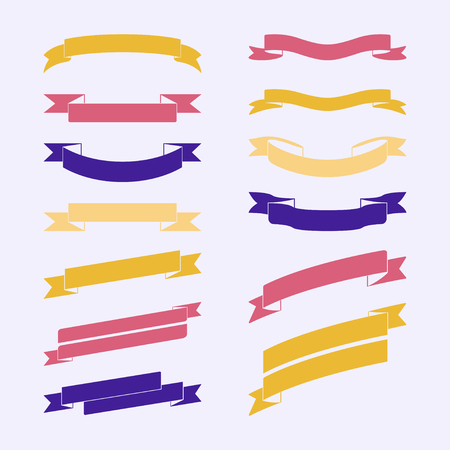 Set of colorful banner vectors