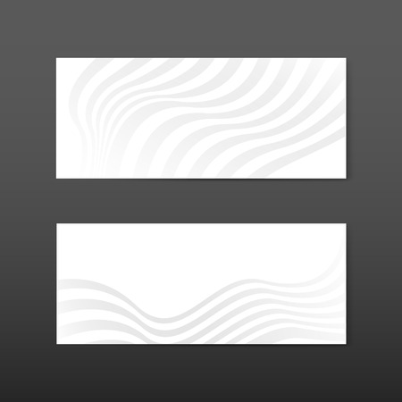 White abstract banner design vectors