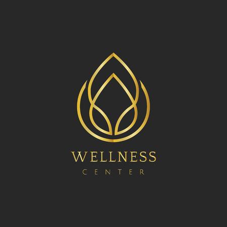 Centro benessere design logo vettoriale