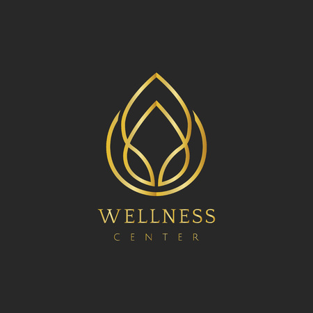 Wellness center design logo vector