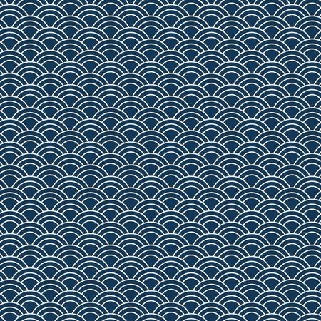 Motif japonais sans couture avec vecteur de motif de vague (Seigaiha) Vecteurs