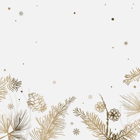 Weißer Hintergrund mit Winterdekorationsvektor