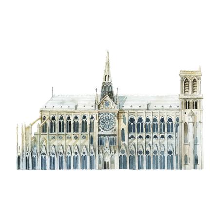 Notre Dame im Pariser Vektor