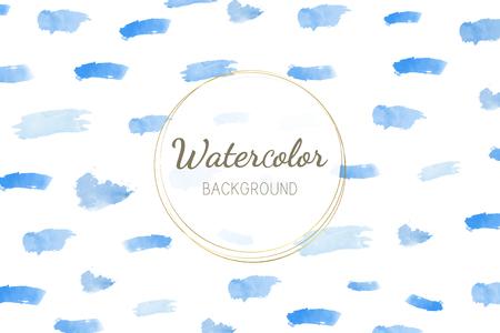 Pastel blue watercolor background vector Standard-Bild - 115280188
