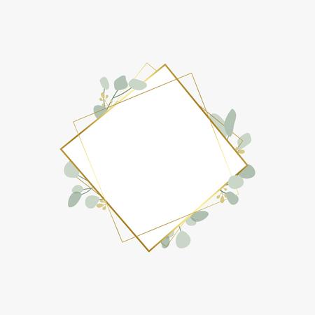 Floral themed badge design vector Illustration