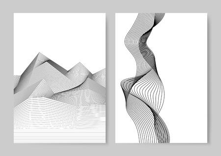Vector de patrón de onda dinámica de visualización de datos Ilustración de vector