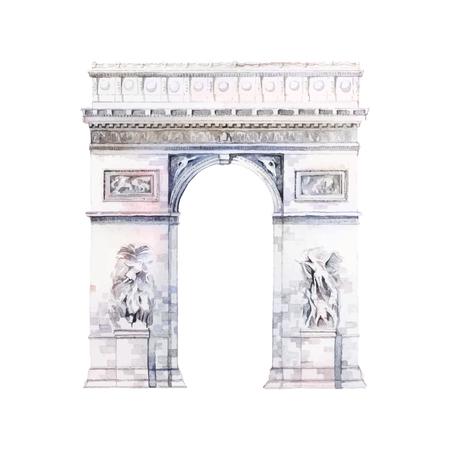 Arc de Triomphe à Paris vecteur
