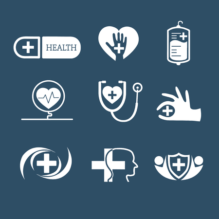 Medical service icon vector set Stock fotó - 115280238