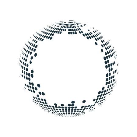 Black halftone badge on white background vector Stock Illustratie