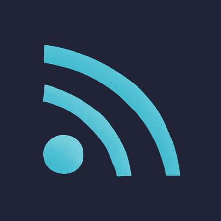 Feed social media icon vector
