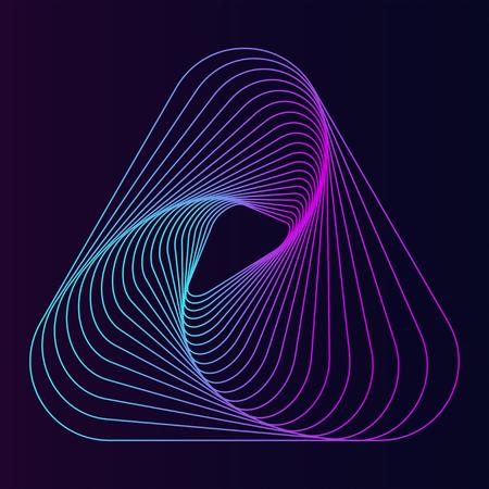Vecteur de papier peint à motif dynamique abstrait