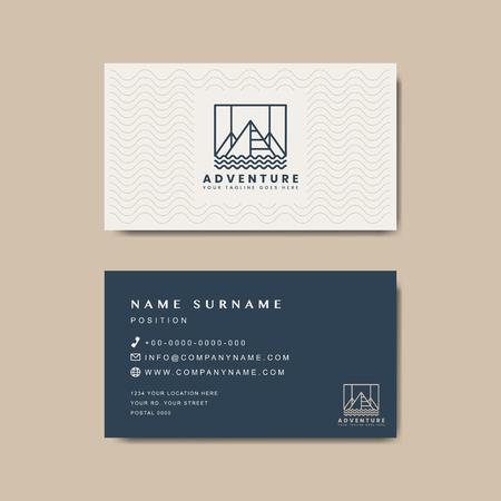 Maqueta de diseño de tarjeta de visita premium Ilustración de vector