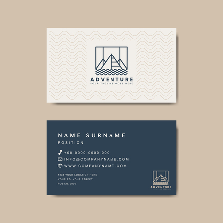 Premium business card design mockup