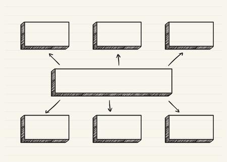 Gráfico garabateado en un bloc de notas