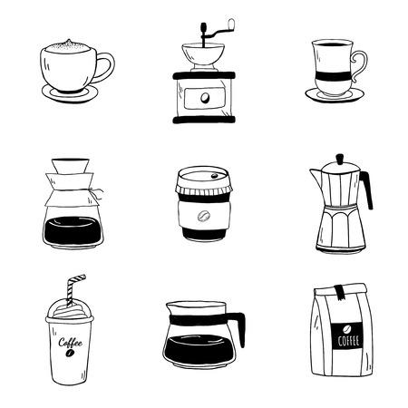 Satz von Café-Symbolen Vektor