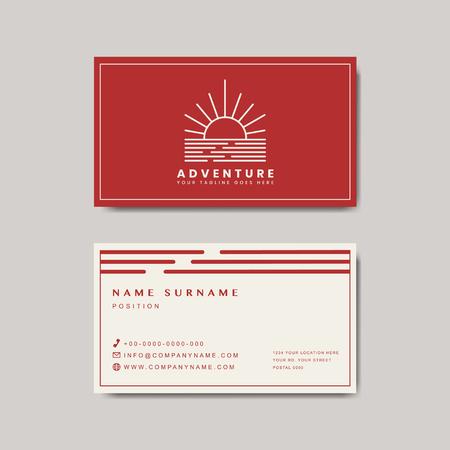 Premium business card design mockup